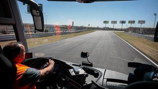 Eco Driving Challenge de ALSA en el circuito del Jarama. Interior de un autobús.