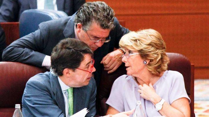 Granados, González y Aguirre en la Asamblea de Madrid en una foto de archivo.