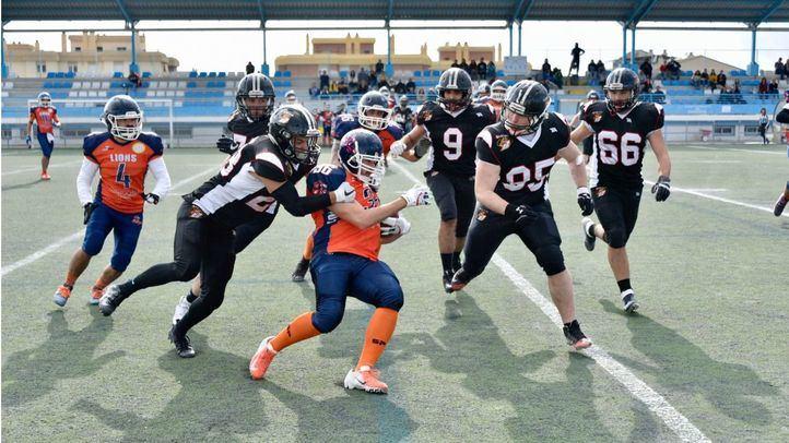 Séptima jornada de la Liga LFNA. Partido disputado entre Granada Lions y Black Demons Las Rozas.