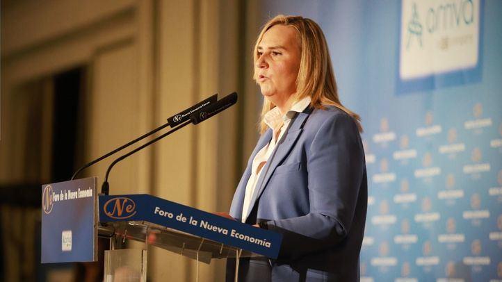 Desayuno informativo de la consejera de Transportes e Infraestructuras de la Comunidad de Madrid, Rosalía Gonzalo.