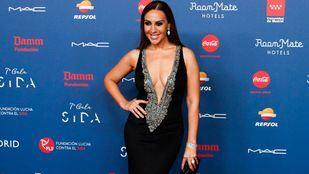 Mónica Naranjo posa para los medios en la VII Gala del Sida. Foto de archivo.