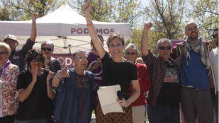 Isa Serra arropa a Gema Gil, candidata de Podemos a la Alcaldía de Leganés, y sus medidas sociales