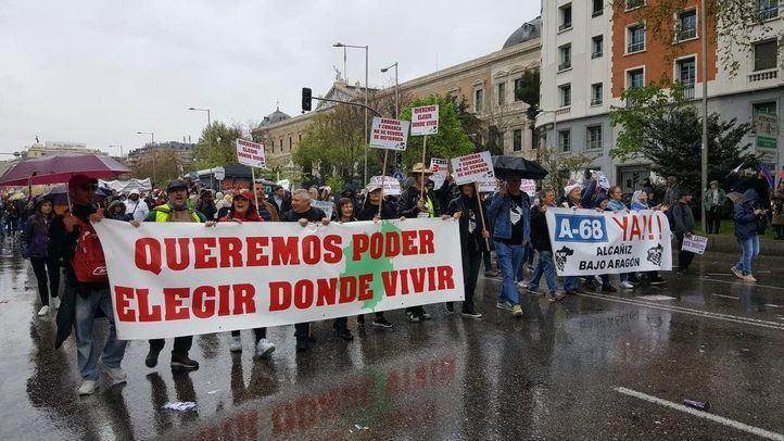 Revuelta de la España Vaciada en Madrid.