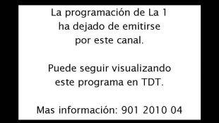 Aviso de TVE que anunciaba el paso de la televisión analógica a la digital.