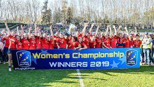 La Selección Española de Rugby Femenino se proclama Campeona de Europa en un partido disputado contra Holanda.