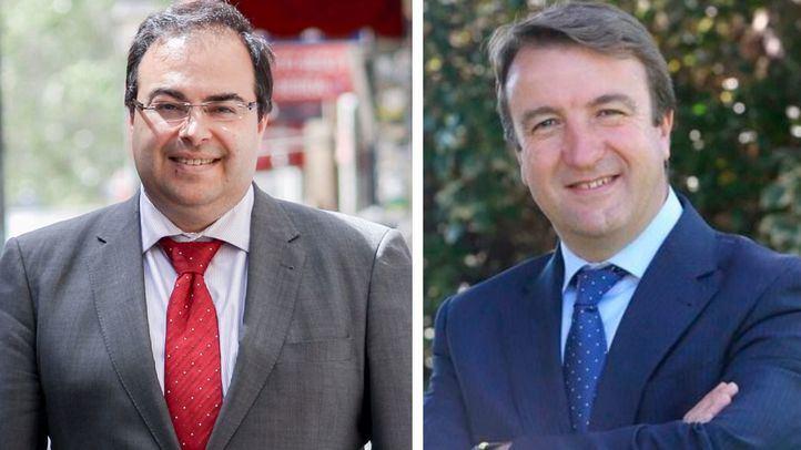 Los alcaldes Santiago Llorente (Leganés, PSOE) y Jesús Moreno (Tres Cantos, PP).