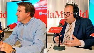 El alcalde de Tres Cantos, Jesús Moreno, y el alcalde de Leganés, Santiago Llorente, en Com.permiso