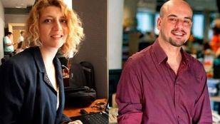 Los periodistas Nuria Platón (La Razón) y Carlos Hidalgo (ABC)