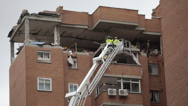 Explosión de gas en un edificio en Vallecas.