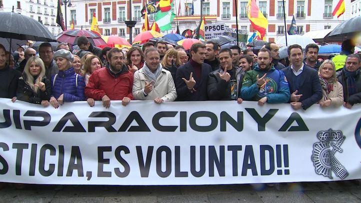 Manifestación de Jusapol este sábado en Madrid.