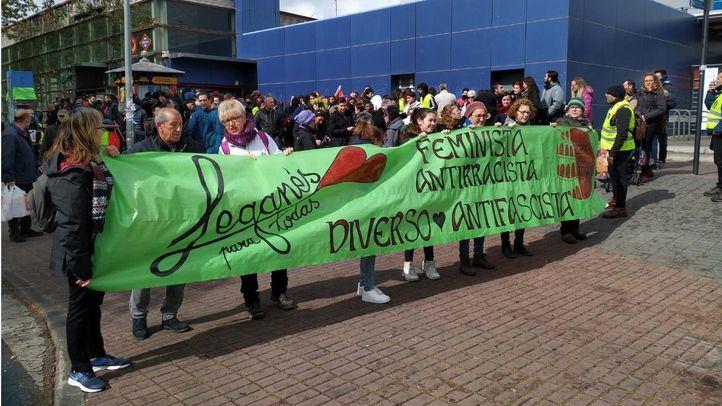 Manifestación contra Vox y los discursos de odio en Leganés.