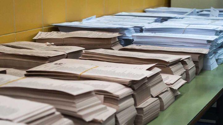Papeletas de las elecciones locales y regionales del 24 Mayo de 2015 en Madrid.