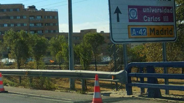 Fomento tramita el cierre de uno de los accesos a la A-42 desde Getafe