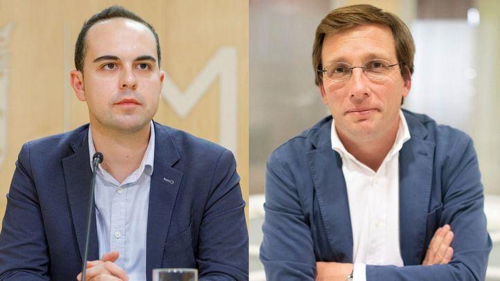 Los concejales José Manuel Calvo y José Luis Martínez Almeida.