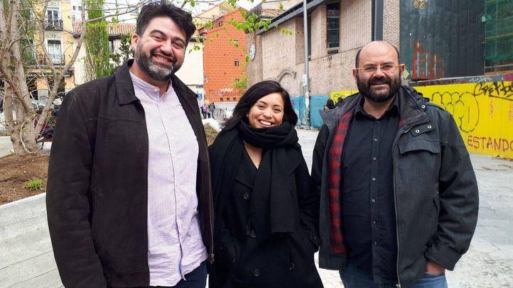 Carlos Sánchez Mato, Rommy Arce y Pablo Carmona este sa?bado durante las primarias.