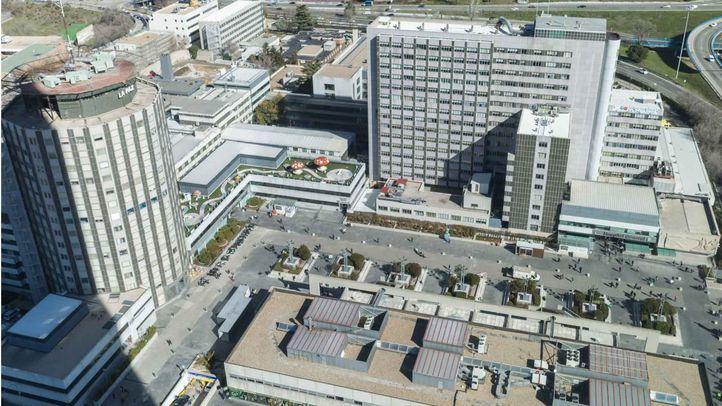 Vistas del hospital La Paz desde la Torre Espacio.