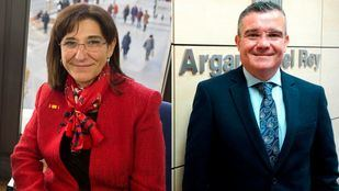 Susana Pérez Quislant (Alcaldesa de Pozuelo de Alarcón) y Guillermo Hita (a Alcalde de Arganda del Rey).