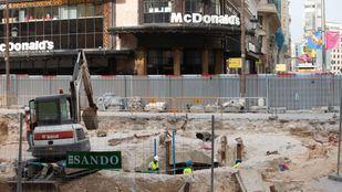 Los restos encontrados en las obras de la estación de Metro de Gran Vía han retrasado su reapertura hasta finales de año.