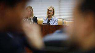 La expresidenta de la Comunidad de Madrid, Cristina Cifuentes, se negó a declarar en la comisión de investigación sobre los máster en la URJC.
