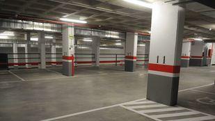 El aparcamiento de Santo Domingo, en una foto de archivo.