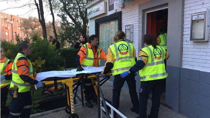 El corazón del herido estaba a punto de pararse cuando los sanitarios han actuado.