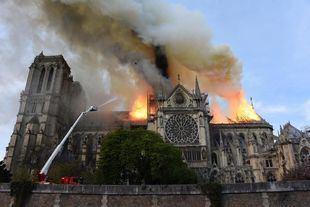 Incendio en la catedral de Notre Dame, en París.
