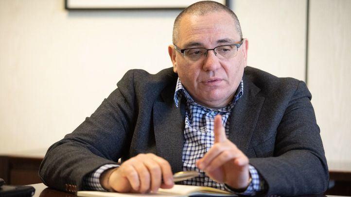 El presidente de Cermi Madrid, Óscar Moral, en un momento de su entrevista con 'Madridiario'.
