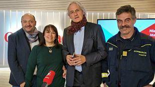 Enrique López Ventura, director general de Emergencias, Miguel Seguí, Jefe de la Inspección de Extinción de Incendios en el Cuerpo de Bomberos de Madrid, en Com.Permiso