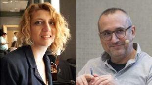 Los periodistas Nuria Platón y Ferrán Boiza.