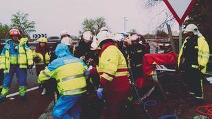 Heridas dos personas en un accidente en Fuentidueña del Tajo
