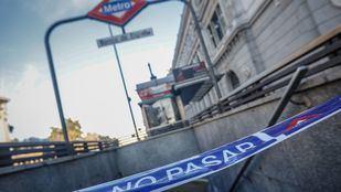 La estación de Banco de España, una de las afectadas por las obras que se vienen realzando desde enero.