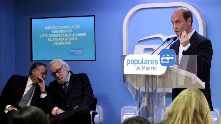 Entrevista de Esperanza Aguirre a los posible aspirantes a ir en su lista al Ayuntamiento.