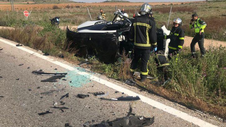 Accidente en la M-117 en Valdetorres del Jarama