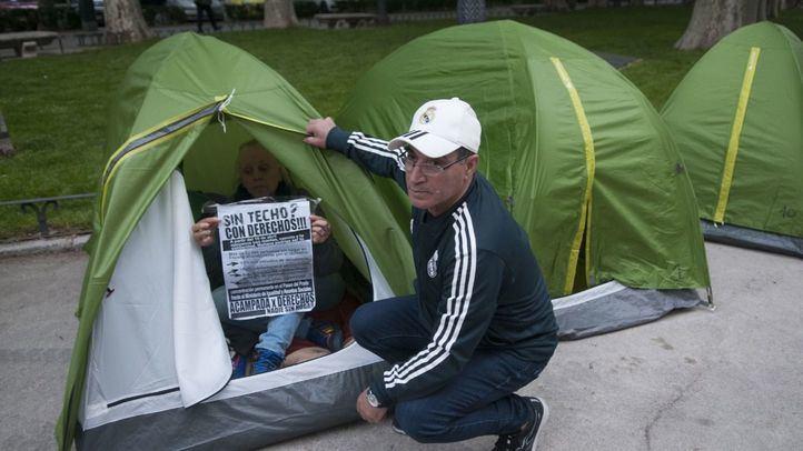 Los 'sintecho' acampan en plena campaña electoral