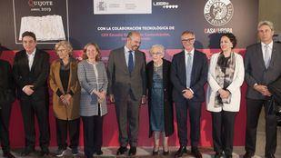 Participantes de la lectura continuada de El Quijote en el Círculo de Bellas Artes.