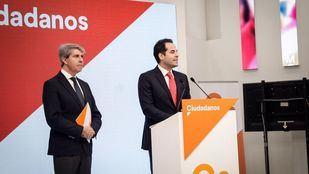 Ignacio Aguado presenta a Ángel Garrido como número 13 en la lista de Ciudadanos a la Comunidad de Madrid.