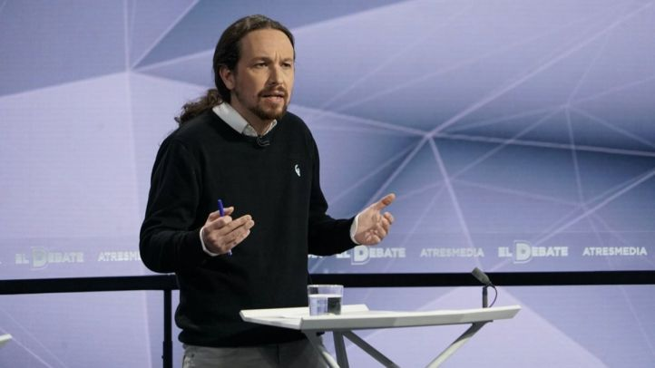 Pablo Iglesias en el debate.