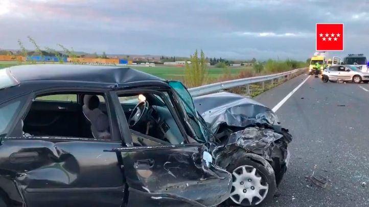 Accidente en la M-111, a la altura de Fuente el Saz.