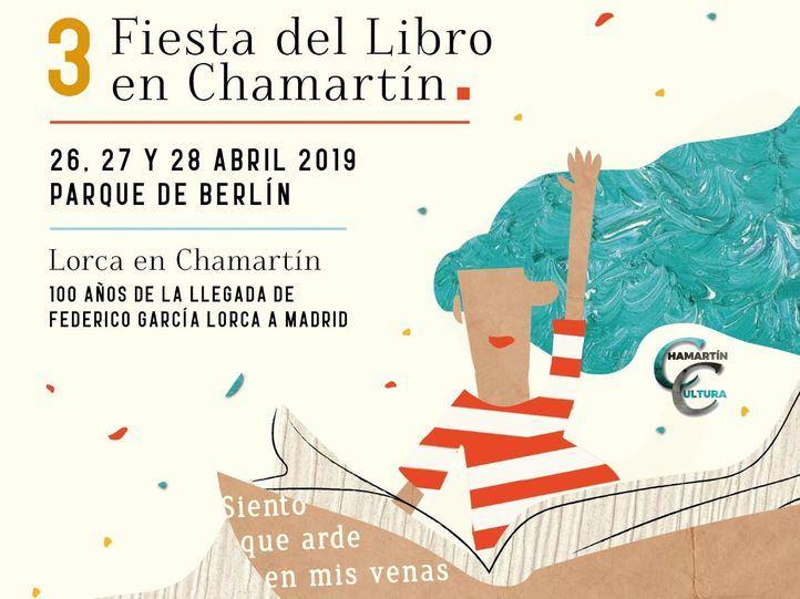 Cartel de la Feria del Libro de Chamartín.