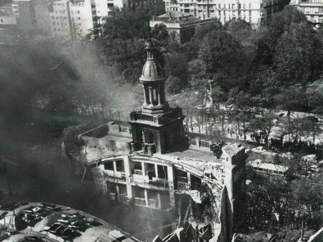 El techo desplomado y las rotativas calcinadas: incendio en ABC