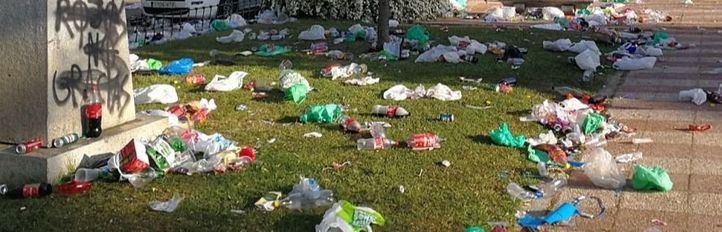San Cemento deja 115 metros cúbicos de basura