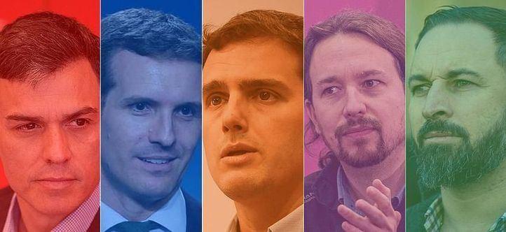 Principales candidatos a la Moncloa en las elecciones generales del 28-A.