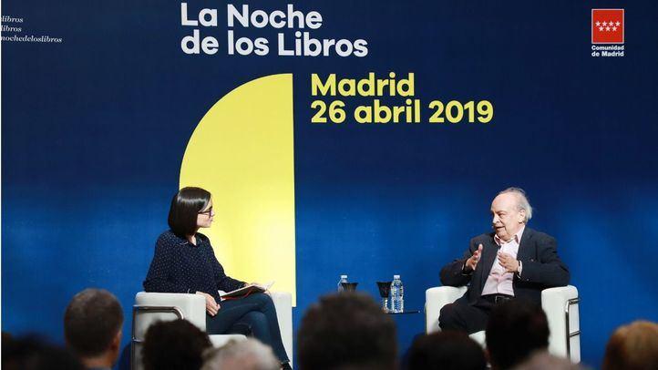 El escritor Enrique Vila-Matas en un acto de La Noche de los Libros.