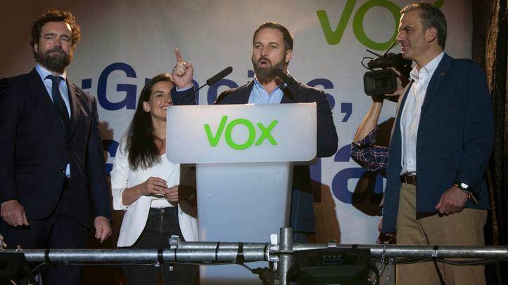 Vox celebra su representación en el Congreso