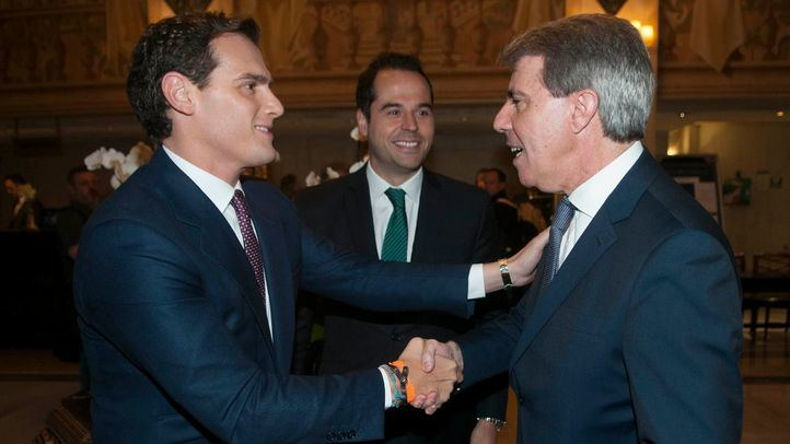 Albert Rivera, Ignacio Aguado y Ángel Garrido.