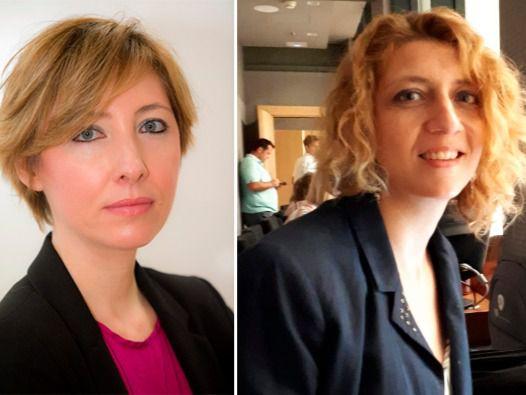 La directora de Madridiario, María Cano, y la periodista de La Razón, Nuria Platón, protagonizaron Com.Permiso.