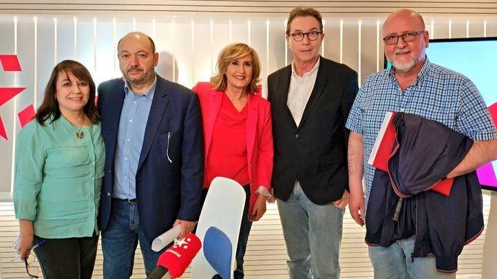 Jaime Cedrún y Luis Miguel López Reíllo, Secretrarios generales de CCOO y UGT Madrid, respectivamente, en Com.Permiso
