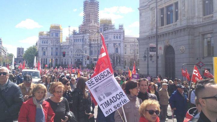 Decenas de miles de personas acudieron a la marcha sindical del Día del Trabajador en 2018.