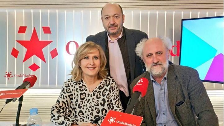 Luis Cueto con Constantino Mediavilla y Nieves Herrero en Onda Madrid.