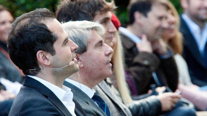 Garrido, acompañado por Ignacio Aguado en su primero acto con afiliados de Ciudadanos.
